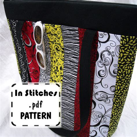pattern tote bag with zipper zipper crop tote pdf purse pattern easy diy tutorial