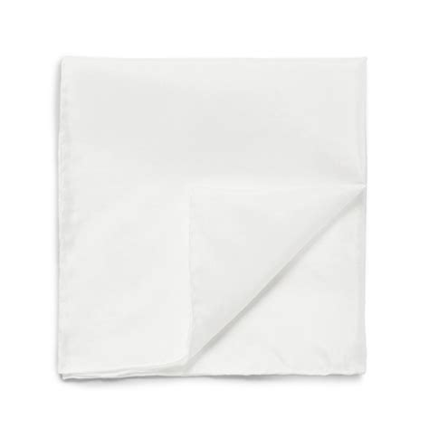 Square Cotton Italy white cotton pocket square made in italy