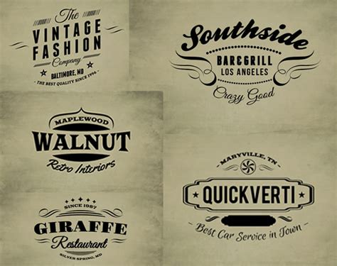 30 free vintage logo templates web design ledger