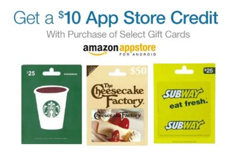 Free App Store Gift Card - amazon free 10 00 app store credit with gift card purchase ftm