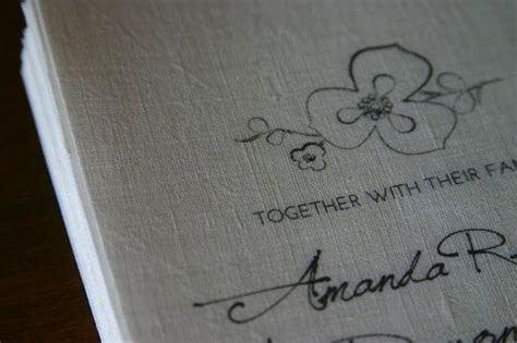 Linen Paper Wedding Invitations by You Can Totally Make Your Own Linen Invitations Offbeat
