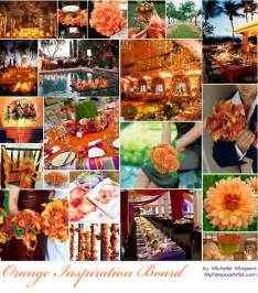 orange wedding colors wedding color combinations