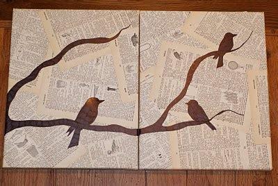 membuat poster vintage grazielle anne diy pretty bird wall art
