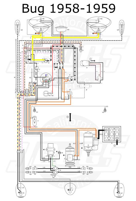 vw beetle wiring diagram efcaviation