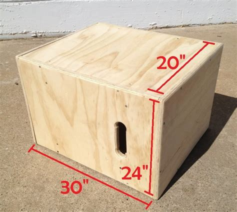 3 in 1 wooden plyometric box 20 quot x 24 quot x 30 quot fitness