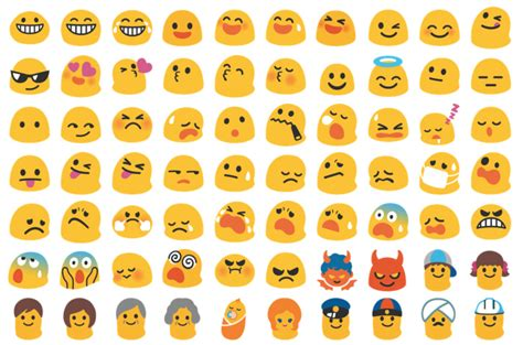 black emojis for android los emojis de android desaparecen adi 243 s blobs