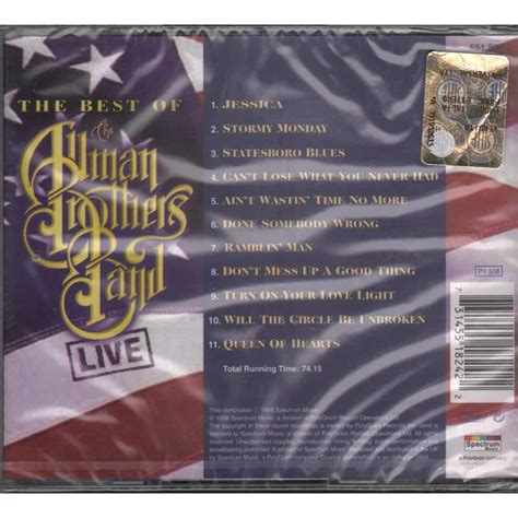 the best of the allman brothers band the best of the allman brothers band live by the allman