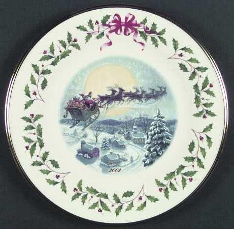 lenox christmas plate