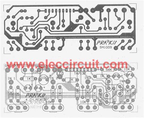 Pcb Mixer Audio low cost mic mixer electronic circuits and diagram electronics readingrat net