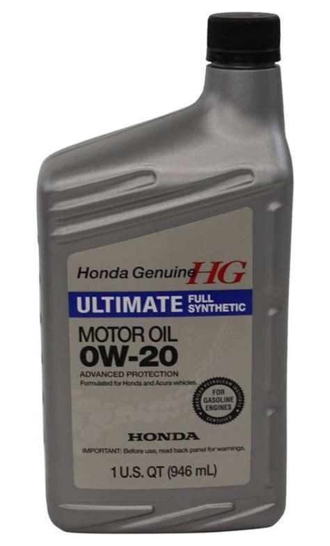 honda acura 0w 20 synthetic motor quart k
