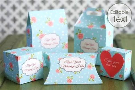templates for homemade boxes free gift box templates to download print make