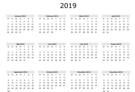 year calendar  printable  task management