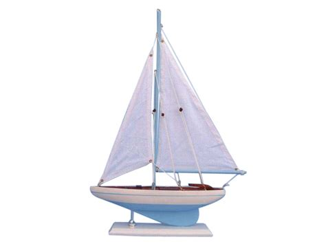 Sailboat Models For Decoration by Buy Wooden Light Blue Pacific Sailer Model Sailboat