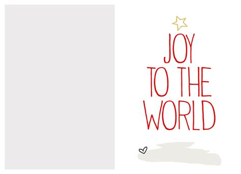 Free Christmas Card Template Printable Photo Cards Templates Free