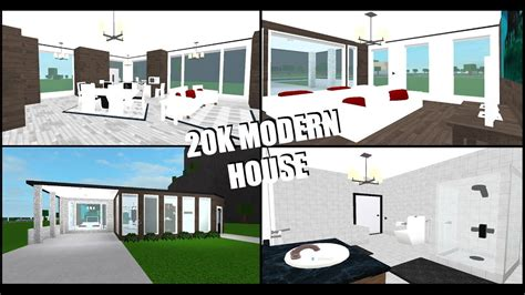 modern house roblox   bloxburg budget