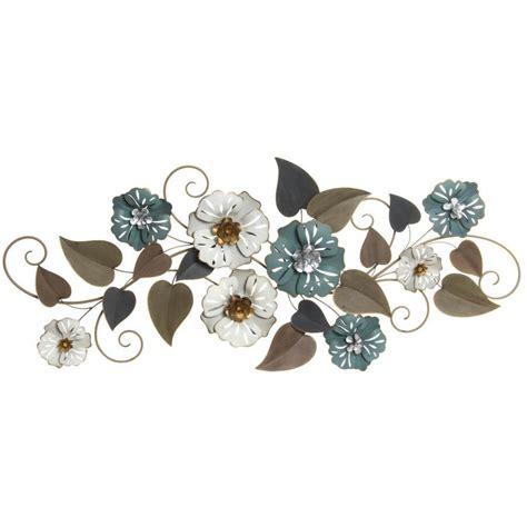 decori fiori decorazioni parete vintage fiori metallo quadri scontati 70