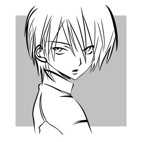 vector    anime guy