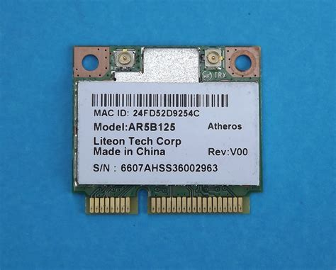 Wireless Card Atheros Ar5b125 atheros ar5b125 wifi wireless 802 11 network mini pci