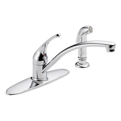 Delta Saxony Kitchen Faucet Replacement Parts by 10901lf Single Handle Kitchen Faucet With Spray