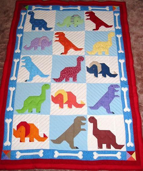 Dinosaur Quilt by Dinosaur Bones Quilt New Quilt