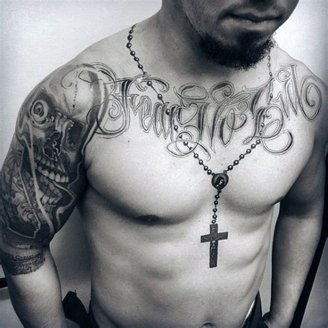 tattoo around neck 100 rosary tattoos for men sacred prayer ink designs
