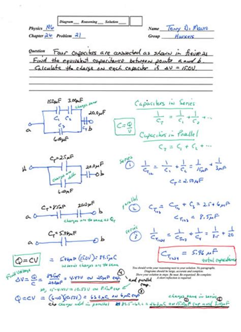 capacitors network physics problem mastering physics capacitor as an energy storing device 28 images capacitance for the