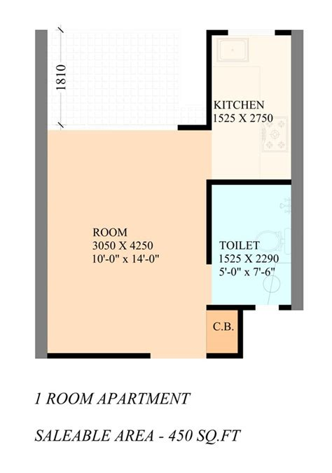 450 square foot apartment floor plan floor plan gaur city 2 gaur smart homes