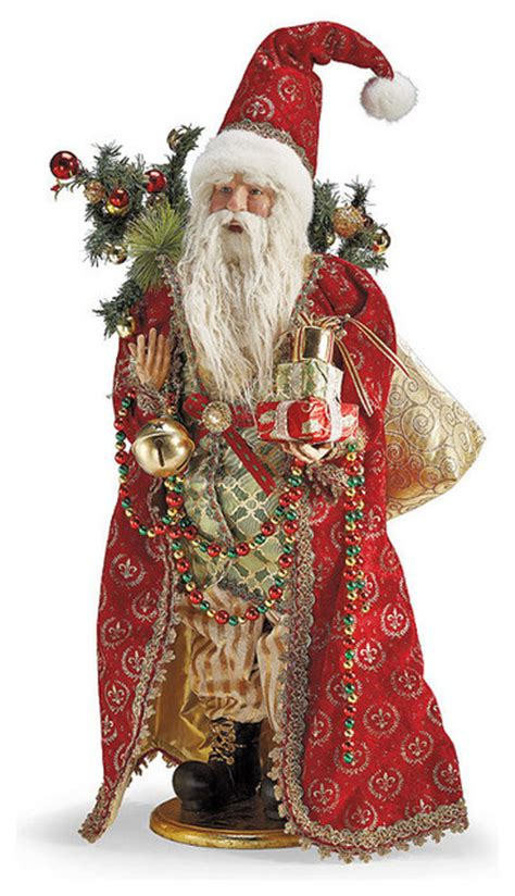 decorating with father christmas figures tabletop figure frontgate decorations traditional