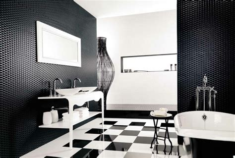 Black And White Bathroom Floor Tiles Decor Ideasdecor Ideas Bathroom Black And White Ideas