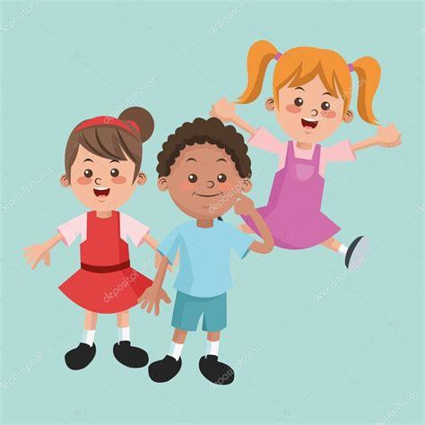 imagenes niños alegres grupo de ni 241 os felices y ni 241 as dibujos animados ni 241 os