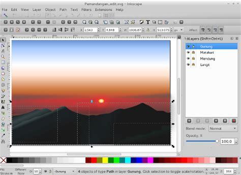 tutorial menggunakan inkscape menggambar pemandangan menggunakan inkscape istana media