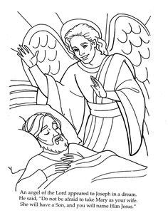 coloring page of angel and joseph r 233 sultats de recherche d images pour 171 the angel visits