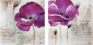Purple Flower Prints - purple flower wall art modern prints and posters new