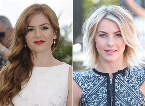 what kind of hairstyle does julienne huff have in safe haven julianne hough has no friends
