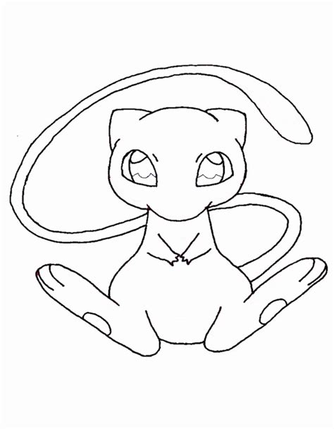 pokemon coloring pages mew pokemon mew coloring page coloring home