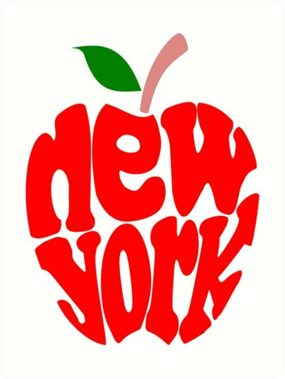 New York City Wall Sticker quot big apple new york quot art prints by denip redbubble