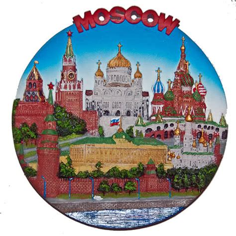 Souvenir Piring Pajangan Moscow Rusia souvenir plate russia attractions of moscow