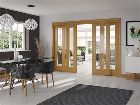 Dividing Doors Living Room Uk Oak Easi Slide Room Divider Door System