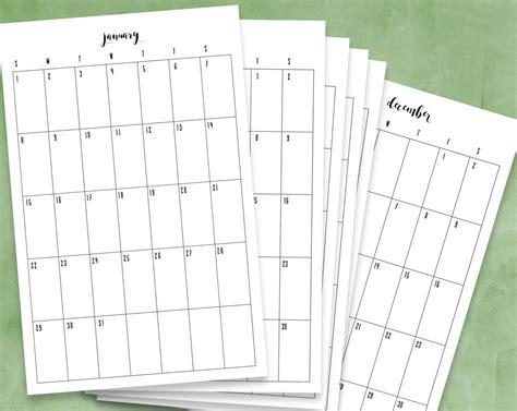 printable calendar 2017 vertical 12 month printable calendar 2017 calendar 2017 pdf vertical