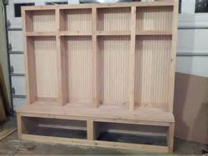 Mudroom Locker Plans Diy by Original Wooden Diy Mudroom Lockers Home Pinterest