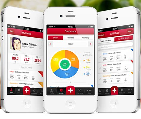 application design concepts my diet diary iphone app design concept on behance
