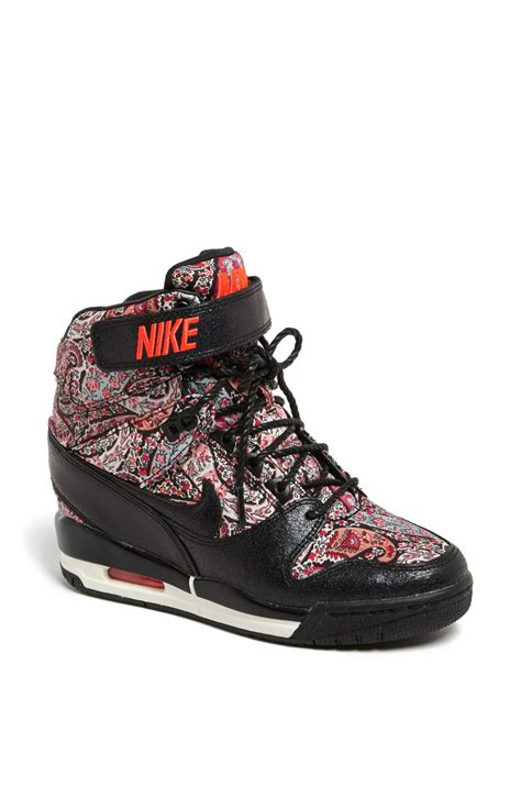 nike wedge sneakers nordstrom nike air revolution sky hi liberty wedge sneaker in black