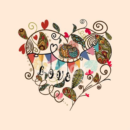 imagenes libres de derchos vintage love heart stock vector freeimages com