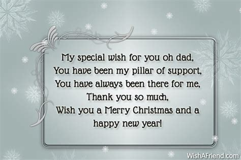special     christmas messages  dad