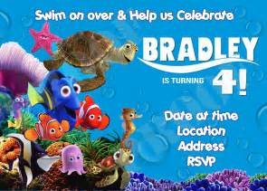Finding Nemo Invitations Template by Finding Nemo Birthday Invitations Template Best Template
