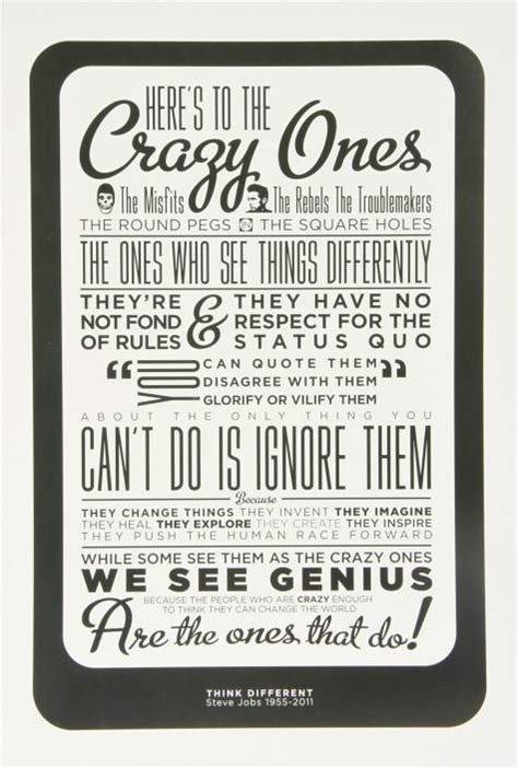 Poster Quotes Wall Bingkai Kayu Steve steve think different paper print quotes motivation typography posters in india