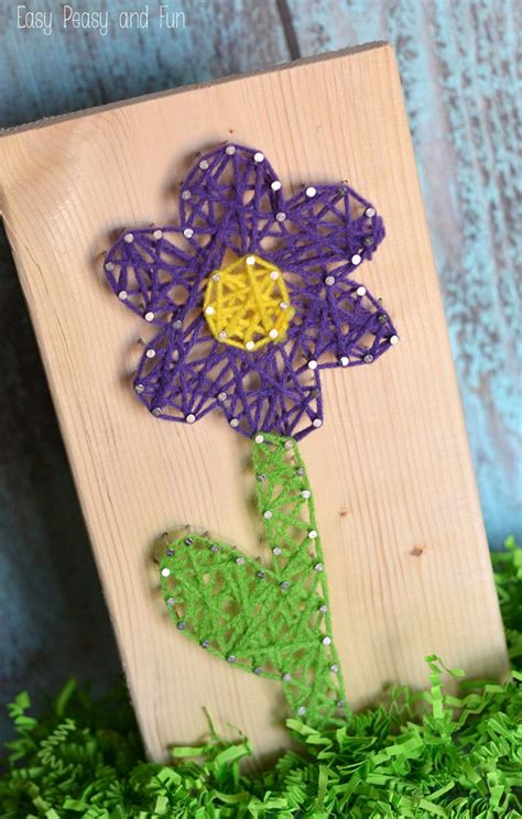 String Arts And Crafts - flower string string for easy peasy and