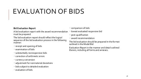 Evaluation Results Letter The Basics Of Tendering Bidding