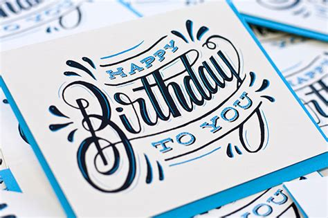happy birthday card design inspiration 28 great old hand drawn type exles web graphic