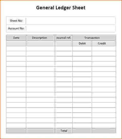 General Ledger Template Madinbelgrade Accounting Ledger Template Excel